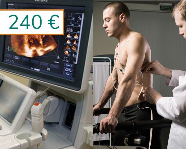 Prueba de esfuerzo Standard + Ecocardiografía