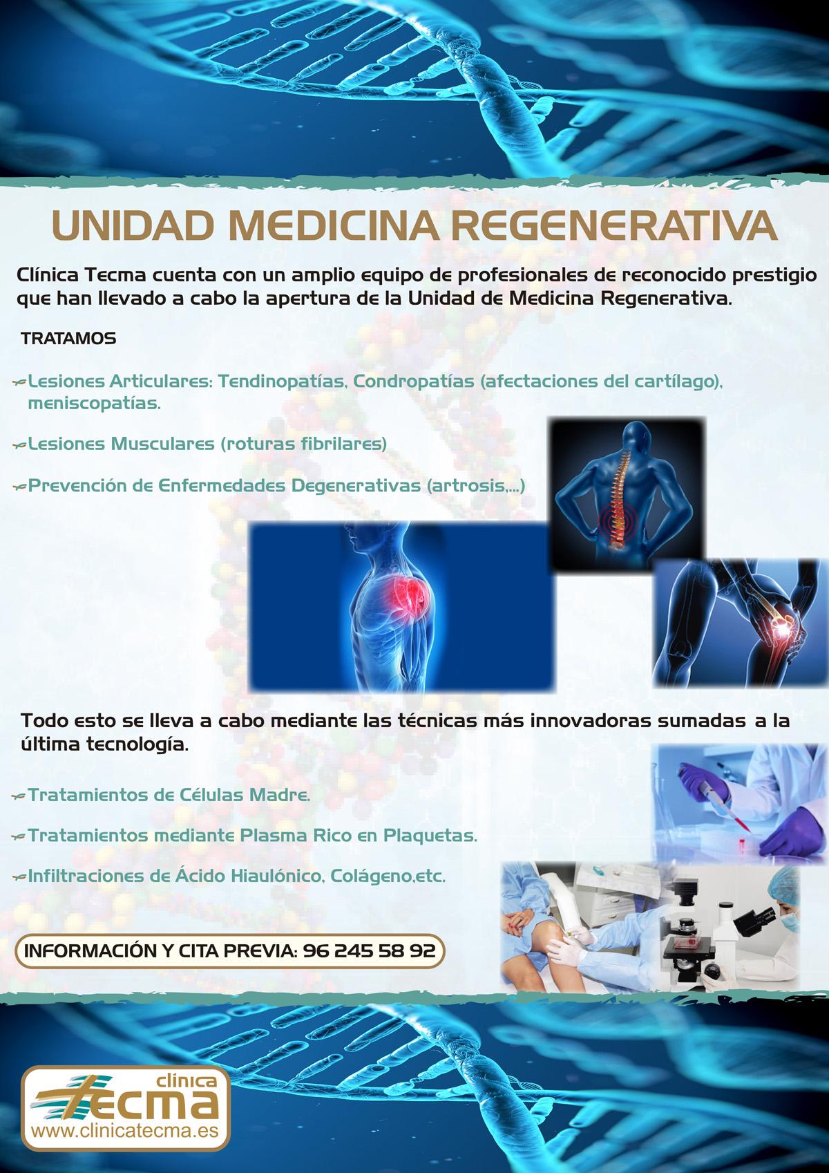 Traumatología, Medicina Regenerativa y Rehabilitadora