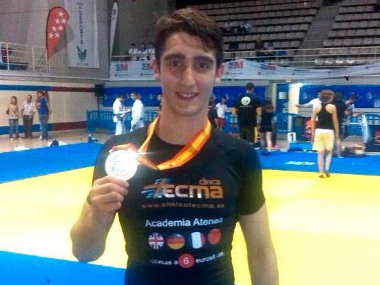 Alberto Varela, alcireño patrocinado por Tecma, campeón de España de Judo en Cadete-66kg