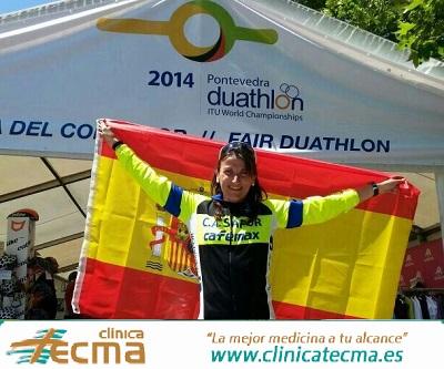 Davinia Albinyana se impone en el Mundial de Duatlón de Pontevedra