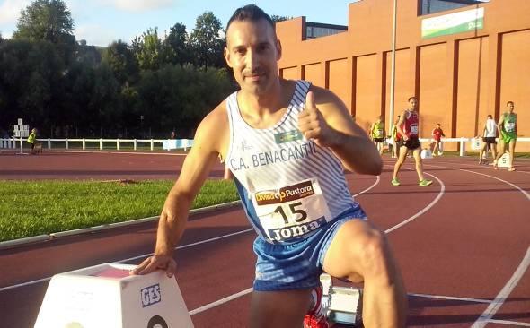 El atleta Sabater se prepara en Tecma para su próximo campeonat europeo