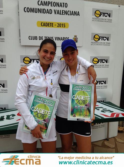 Carla Pons, atleta patrocinada por clínica Tecma, subcampeona de la Comunidad Valenciana.