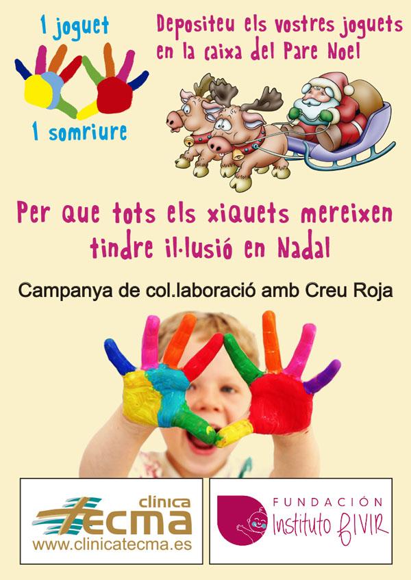 Fundación Instituto FIVIR y Clínica Tecma colaboran con Cruz Roja Española en la recogida de juguetes